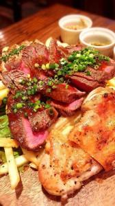ビストロ肉の3種盛り合わせ