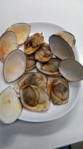 白貝の網焼き